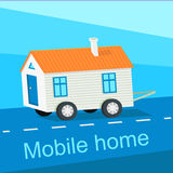 Mobile Home Flat Design Banner Stock Image