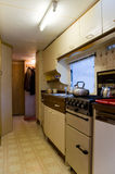 Mobile home kitchen Stock Image
