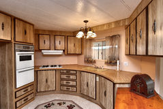 Mobile home  kitchen Royalty Free Stock Images