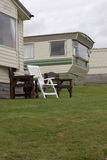 Mobile Home in Pembrokeshire. Mobile home in a caravan park in Pembrokeshire Stock Photos