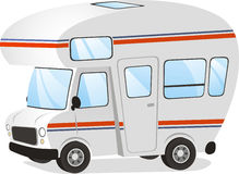 Mobile home RV illustration Royalty Free Stock Photos