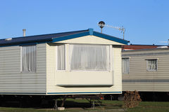 Mobile homes on a caravan park Stock Photos