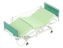 Mobile hospital bed. Isolated on white background Stock Images