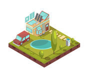 Mobile House Isometric Illustration Royalty Free Stock Images