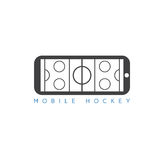 Mobile ice hockey vector concept Stock Photo