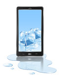Mobile and ice Stock Photo