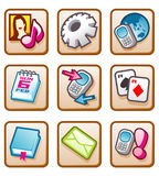 Mobile Icon. Click on Mobile Menu Icon Royalty Free Stock Photography