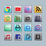 Mobile icon Royalty Free Stock Photography