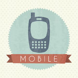 Mobile icon Royalty Free Stock Image
