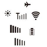 Mobile icon set Stock Photo