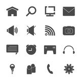 Mobile icon set  eps10 Royalty Free Stock Photography