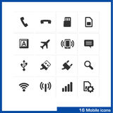 Mobile icon set. Royalty Free Stock Photo