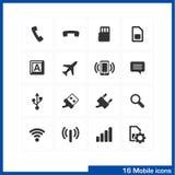 Mobile icon set. Royalty Free Stock Photo