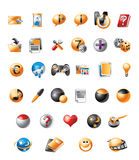 Mobile icons Stock Photos
