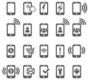 Mobile icons. Royalty Free Stock Photography