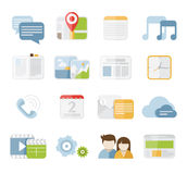 Mobile icons Stock Images