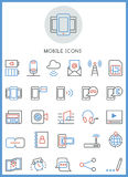 Mobile icons set  Stock Photography