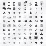 Mobile icons set. illustration Royalty Free Stock Photo
