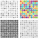 100 mobile icons set vector variant. 100 mobile icons set vector in 4 variant for any web design isolated on white Royalty Free Stock Image
