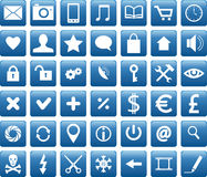Mobile icons Royalty Free Stock Images