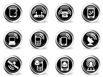 Mobile Icons set Royalty Free Stock Photography