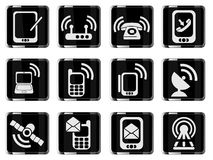 Mobile Icons Stock Photo
