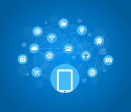 Mobile Icons, Social Media, Mobile Technology, Internet Royalty Free Stock Images