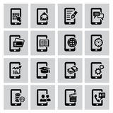 Mobile icons Stock Image