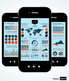 Mobile infographic. Royalty Free Stock Images