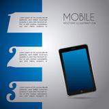 Mobile infographics design Royalty Free Stock Image