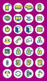 Mobile infographics vector icons Royalty Free Stock Image