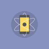 Mobile innovations flat icon illustration Stock Photography