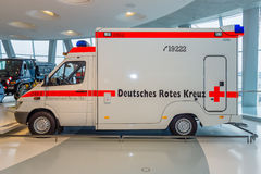 Mobile intensive care unit Mercedes-Benz Sprinter 313 CDI, 2001. STUTTGART, GERMANY- MARCH 19, 2016: Mobile intensive care unit Mercedes-Benz Sprinter 313 CDI Royalty Free Stock Photo