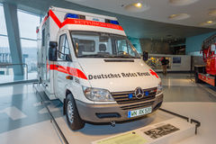 Mobile intensive care unit Mercedes-Benz Sprinter 313 CDI, 2001. STUTTGART, GERMANY- MARCH 19, 2016: Mobile intensive care unit Mercedes-Benz Sprinter 313 CDI Stock Photos