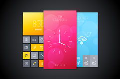 Mobile interface background designs set. Stock Image
