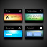 Mobile interface elements with colorful wallpaper royalty free illustration