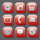 Mobile interface icon set Royalty Free Stock Images