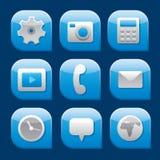 Mobile interface icon set Stock Photo