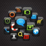 Mobile interface icons Royalty Free Stock Photo