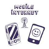 Mobile Internet icon tools Royalty Free Stock Photos