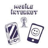 Mobile Internet-Ikonenhilfsmittel Lizenzfreie Stockfotos