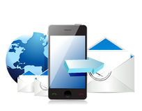 Mobile internet mail Stock Image