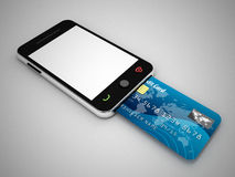 Mobile internet payment Royalty Free Stock Images