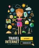 Mobile Internet service vector logo design Royalty Free Stock Photo