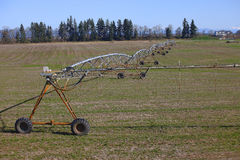 Mobile irrigation systems. Royalty Free Stock Photo