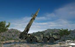 Mobile Kernballistische rakete Russisches ballistisches Wiedergabe 3d Stockbild