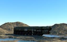 Mobile Kernballistische rakete Russisches ballistisches Wiedergabe 3d Lizenzfreies Stockbild