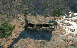 Mobile Kernballistische rakete Russisches ballistisches Wiedergabe 3d Stockfotografie