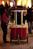 Mobile kestane (chestnuts) stall in taksim square istanbul turkey Stock Photo