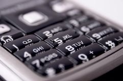 Mobile keyboard. With black buttons Royalty Free Stock Image